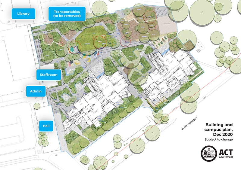 Campbell PS Modernisation - Campus plan wtih landscaping.jpg